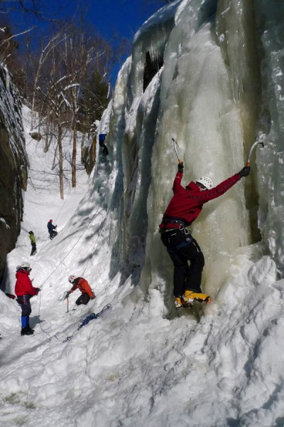 Champney Ice Bouldering