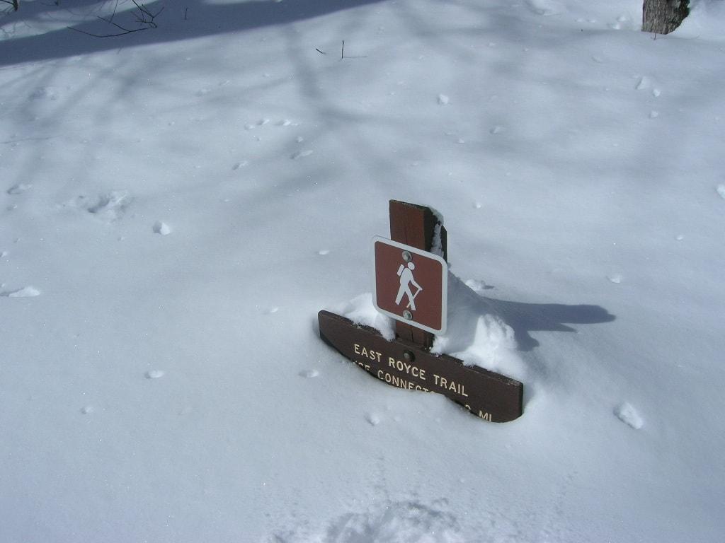 Snow for Sloggin'. Evan's Notch, Maine.