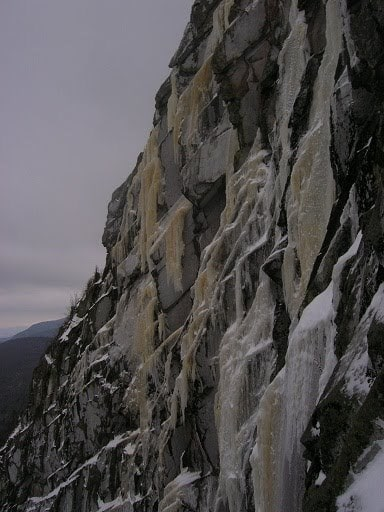 Early season drips on Cannon Cliff.