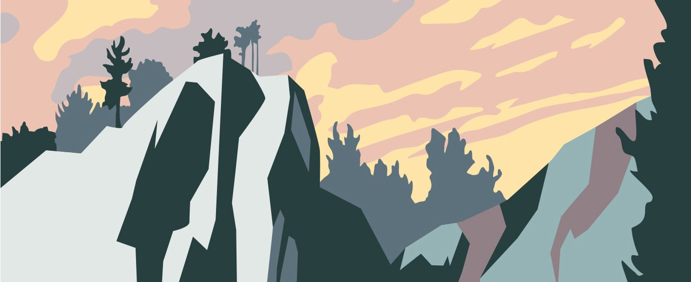 That's the home crag. Art by Scott Whitehouse.