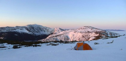 Camnpsite in the vicinity of Mt Adams on a Presidential Traverse. Elliot Gaddy photo.