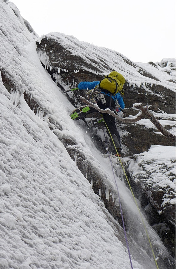 Kevin Mahoney on random scrappy terrain - in really cool conditions - on Mt Willard.